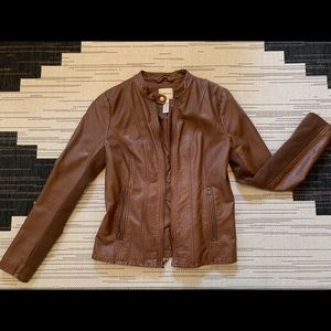 Camel/Cognac faux leather jacket